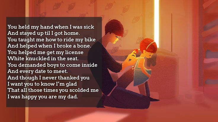 father and daughter poem