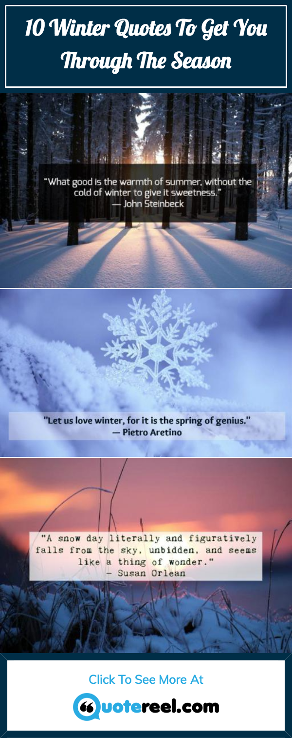 Winter Quotes Pin