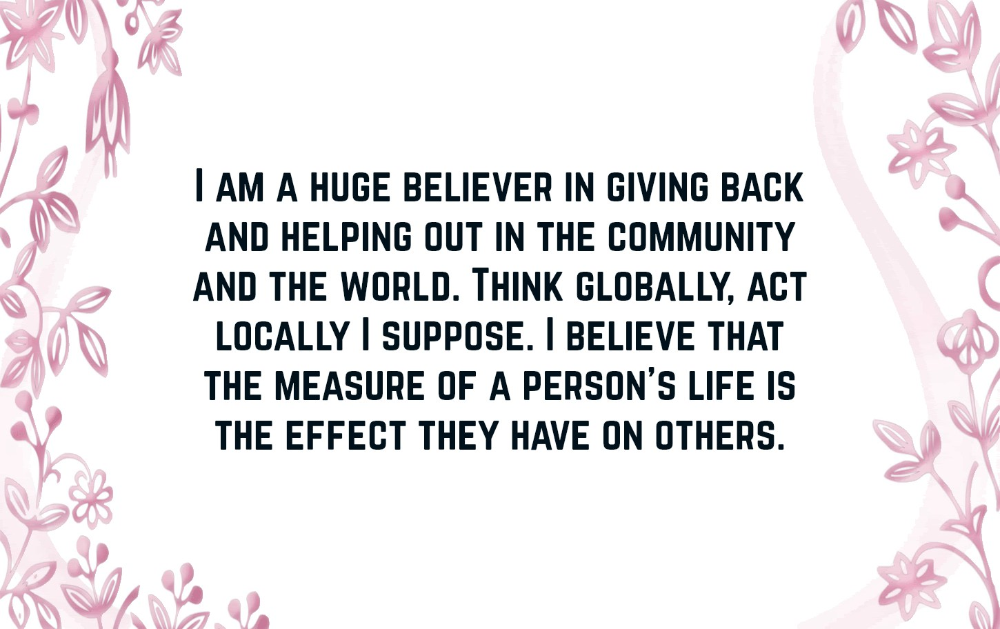 Giving Back Quotes | Text & Image Quotes | QuoteReel
