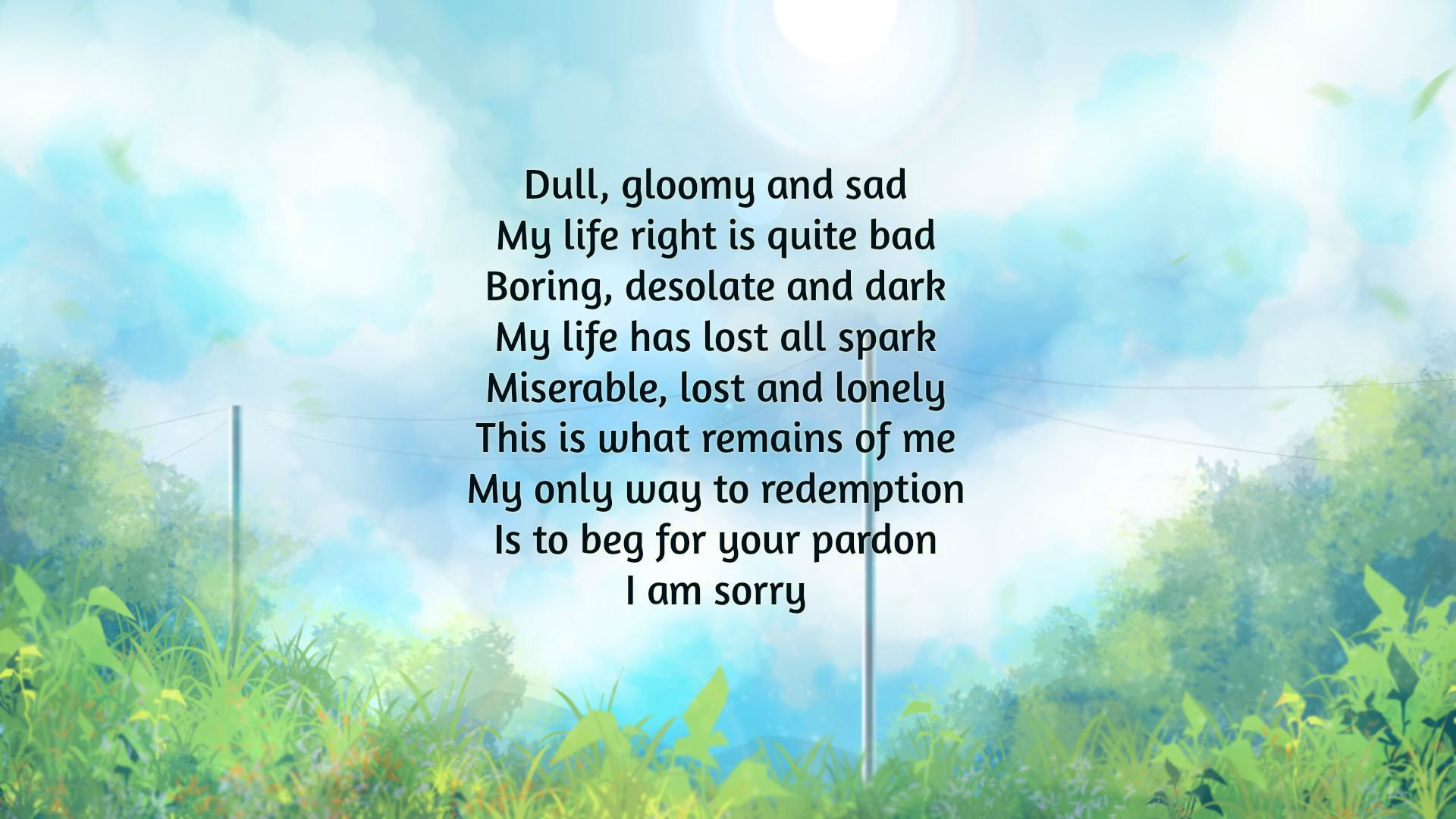 im sorry poems