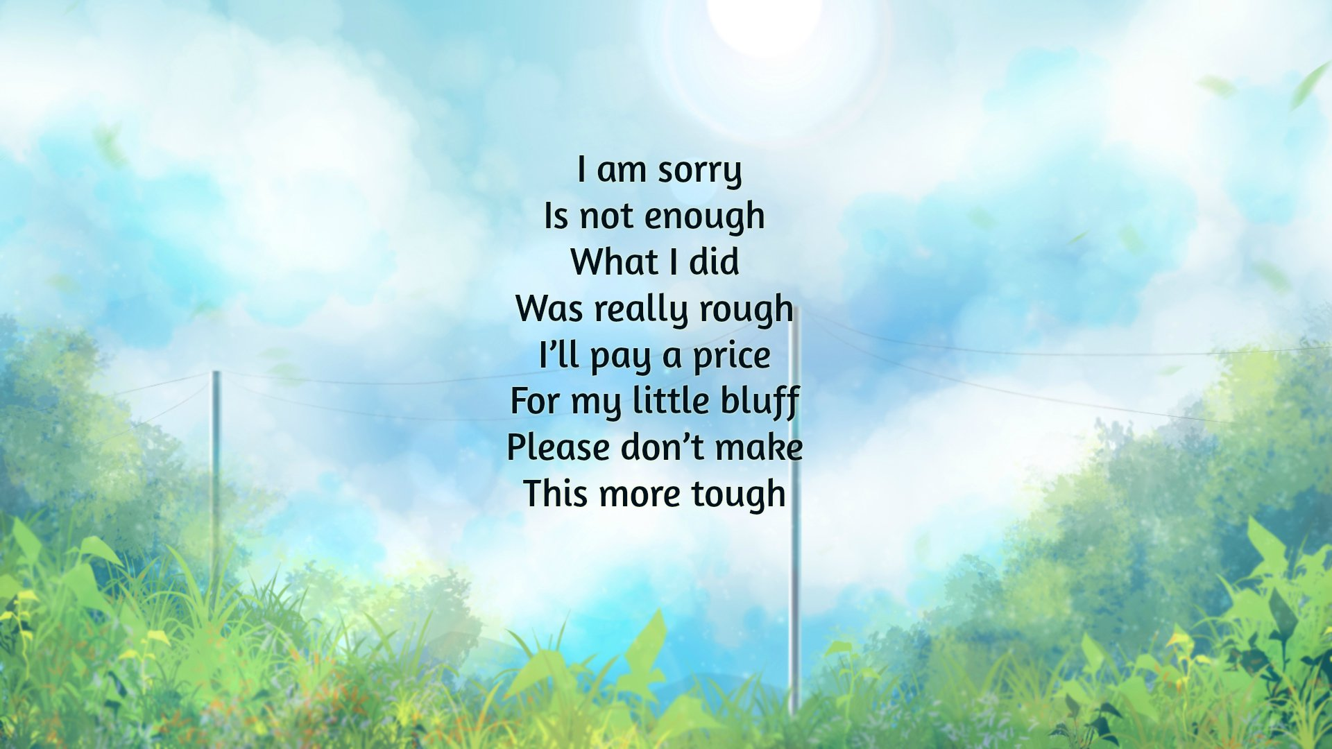 I'm Sorry Poems