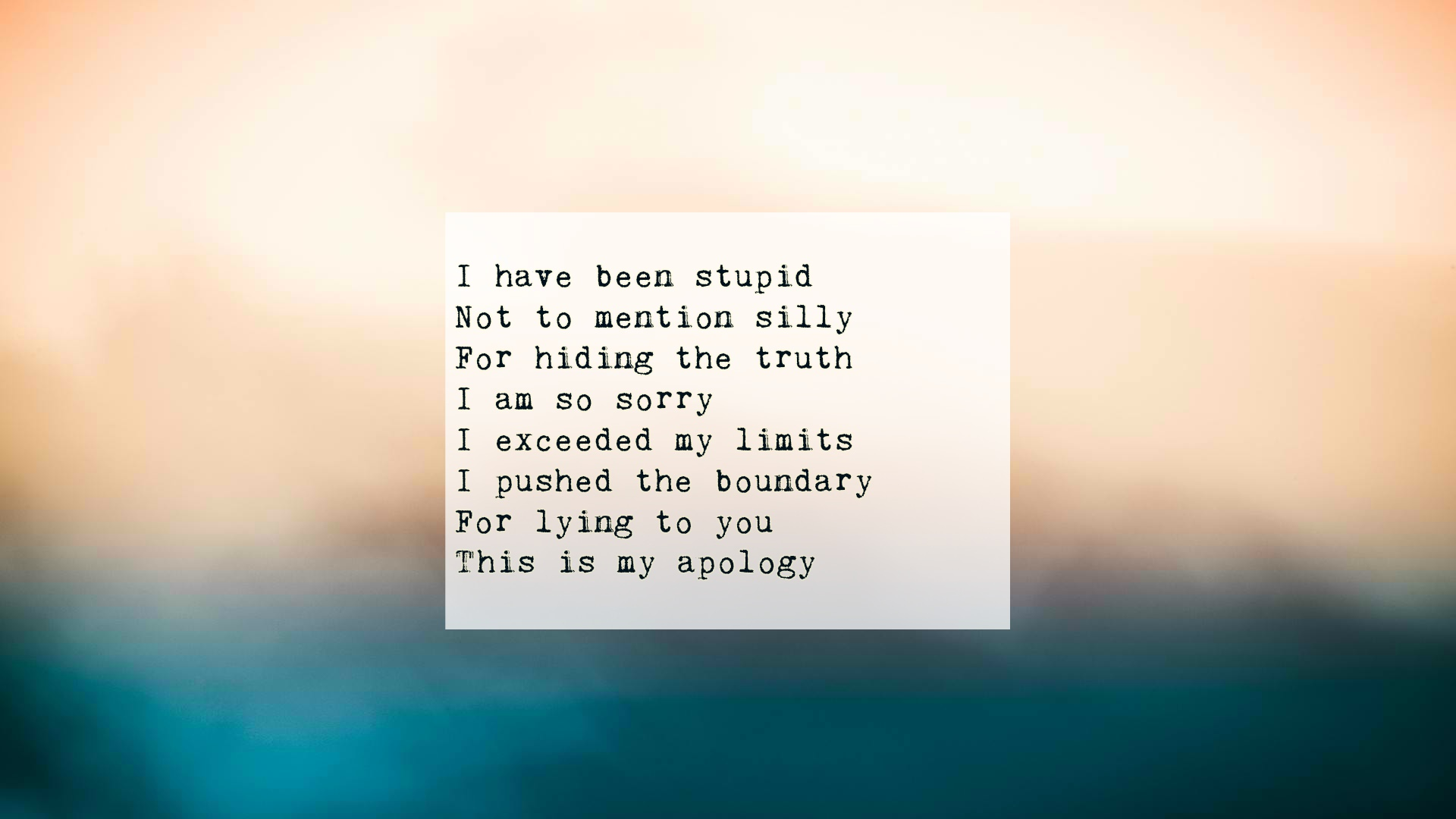 Im Sorry Poems Text And Image Poems Quotereel