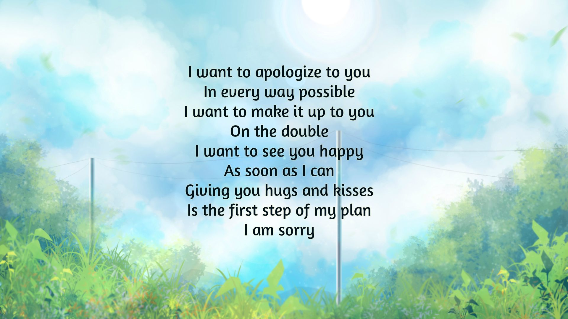 I'm Sorry Poems | Text And Image Poems | QuoteReel
