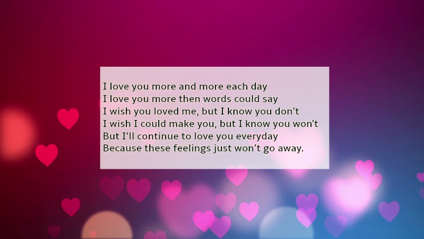 baby i love u so much poems