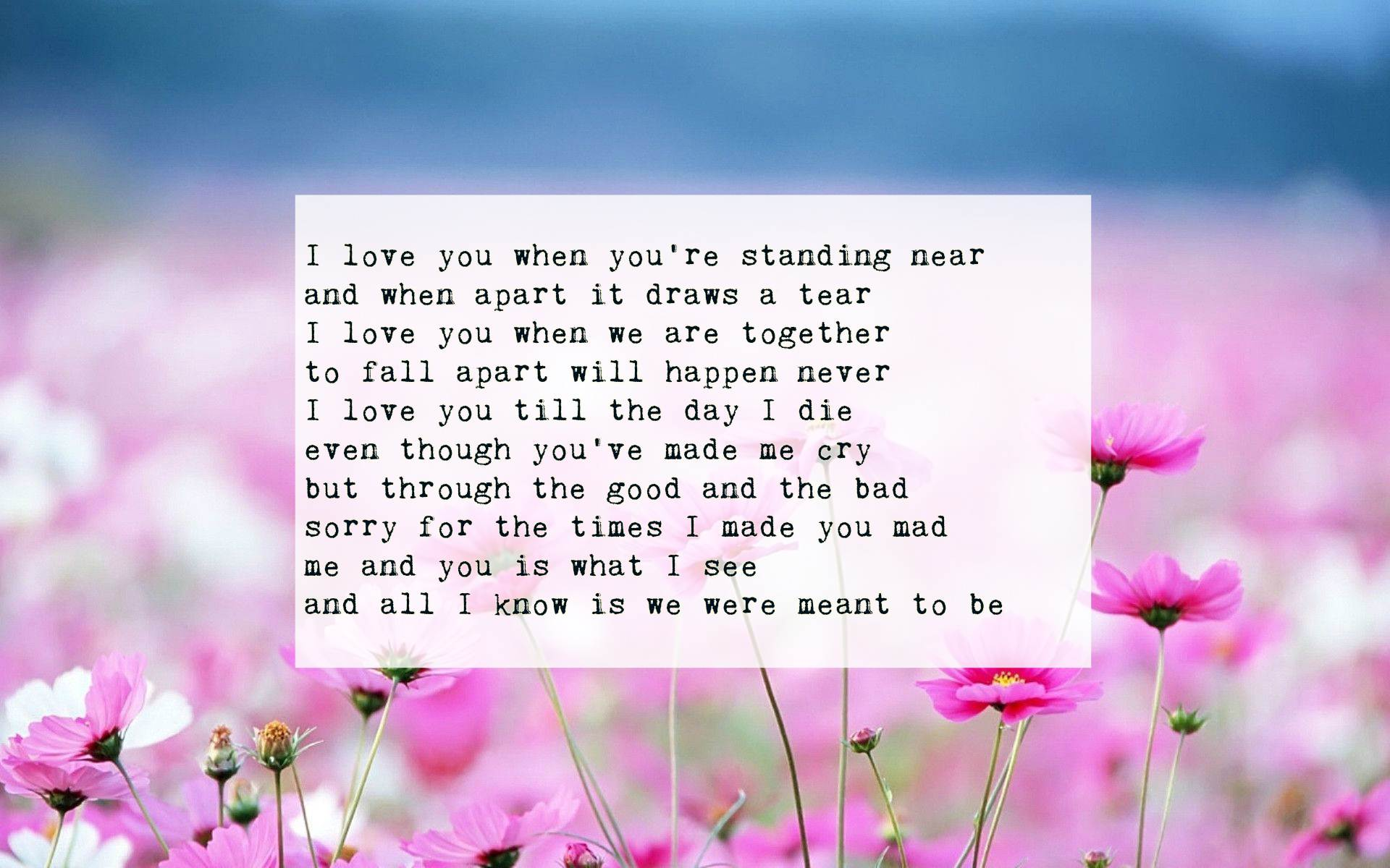 i love you poems