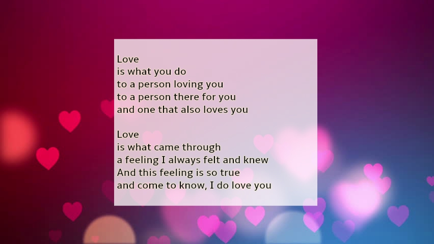 how do i know i love you poem
