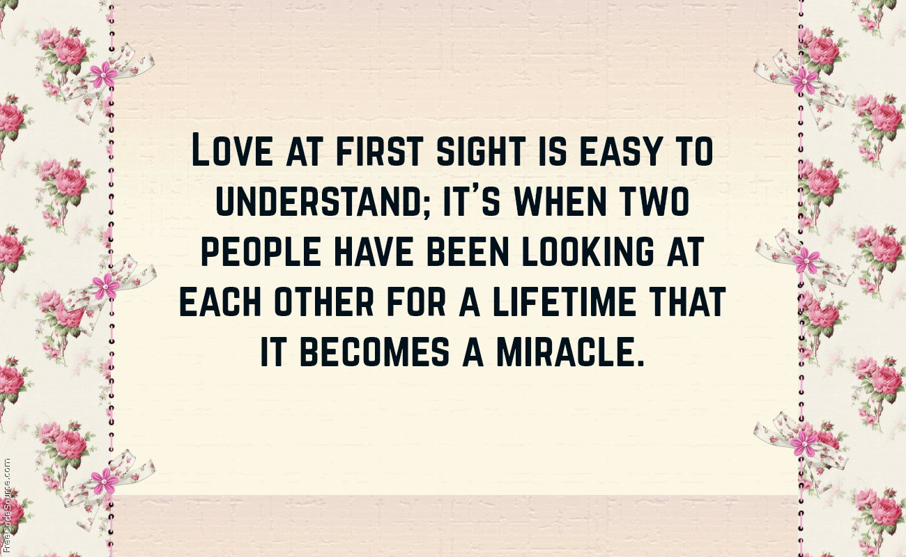 love quotes for love at first sight