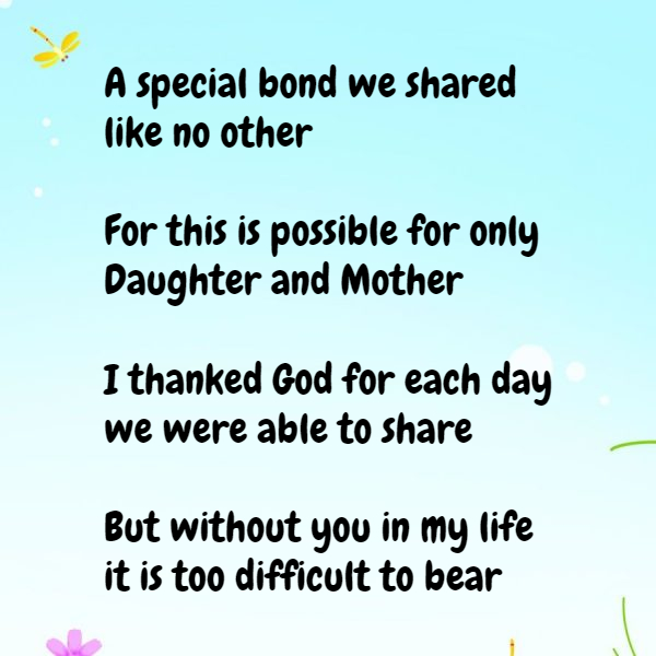 Mother Daughter Poems To Cherish Image Text Quotes