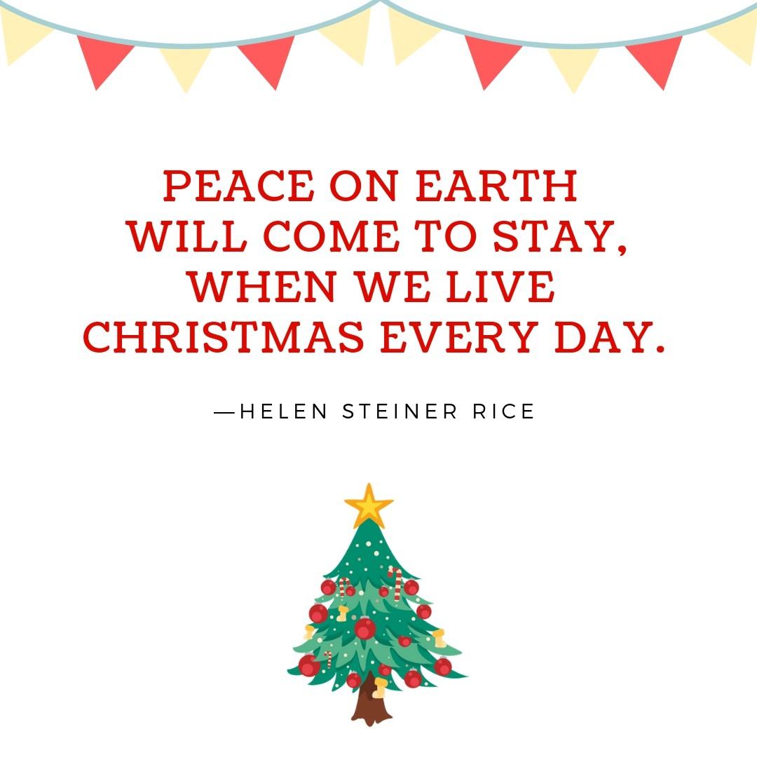 Peace Christmas Quotes.Christmas Quotes 6 Quotereel