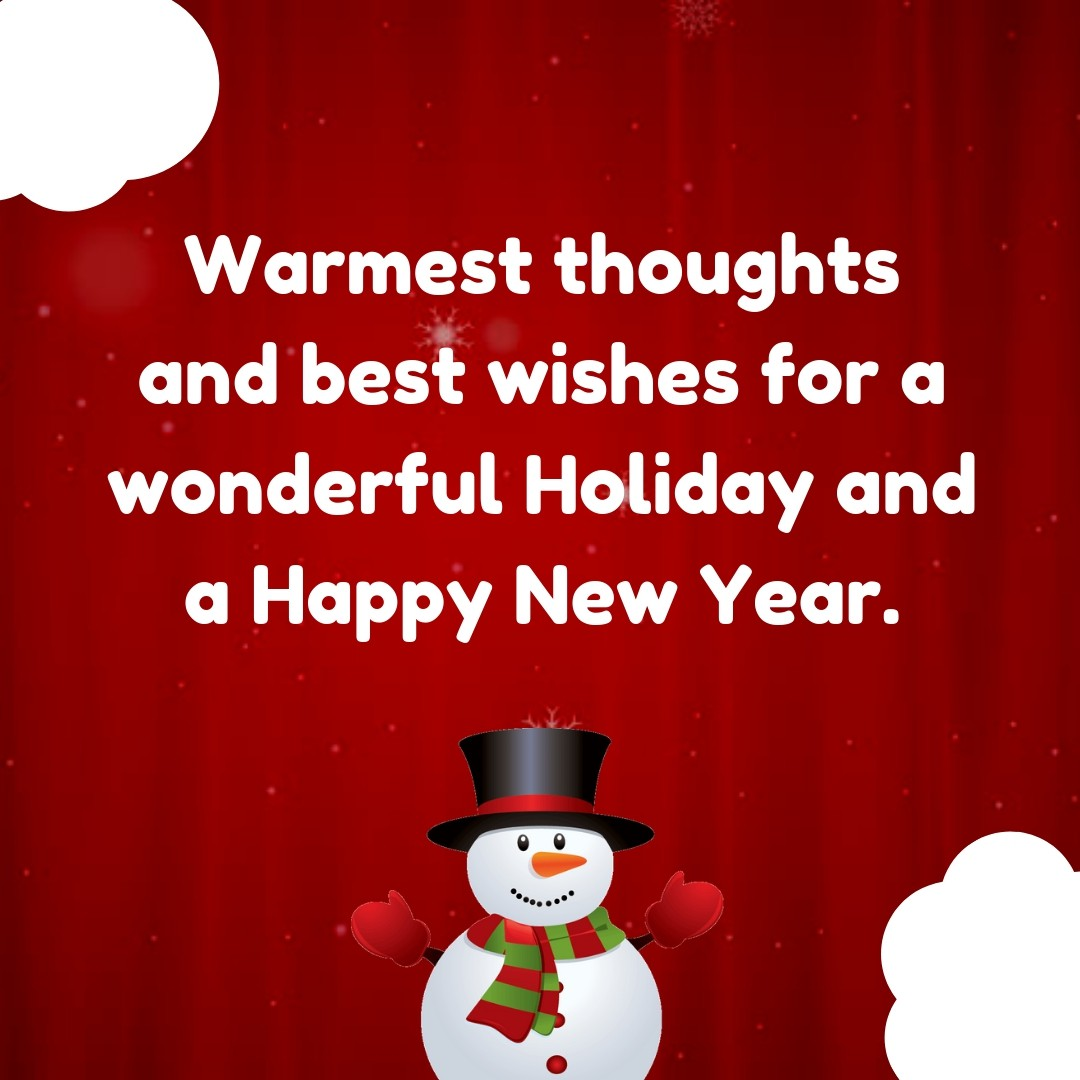 Holiday greetings text image quotes quotereel warmest thoughts and best wishes for a wonderful holiday and a happy new year m4hsunfo