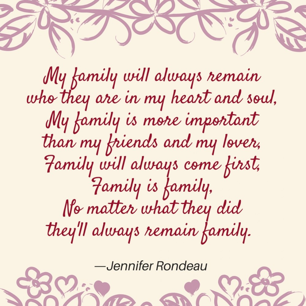 Poems About Family Text Image Quotes Quotereel