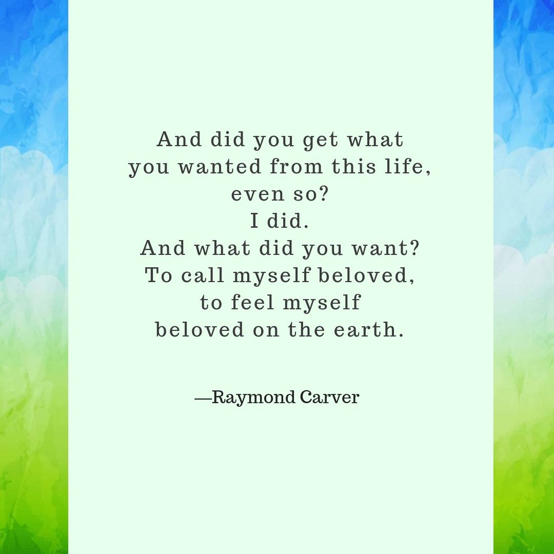 raymond carver so much water