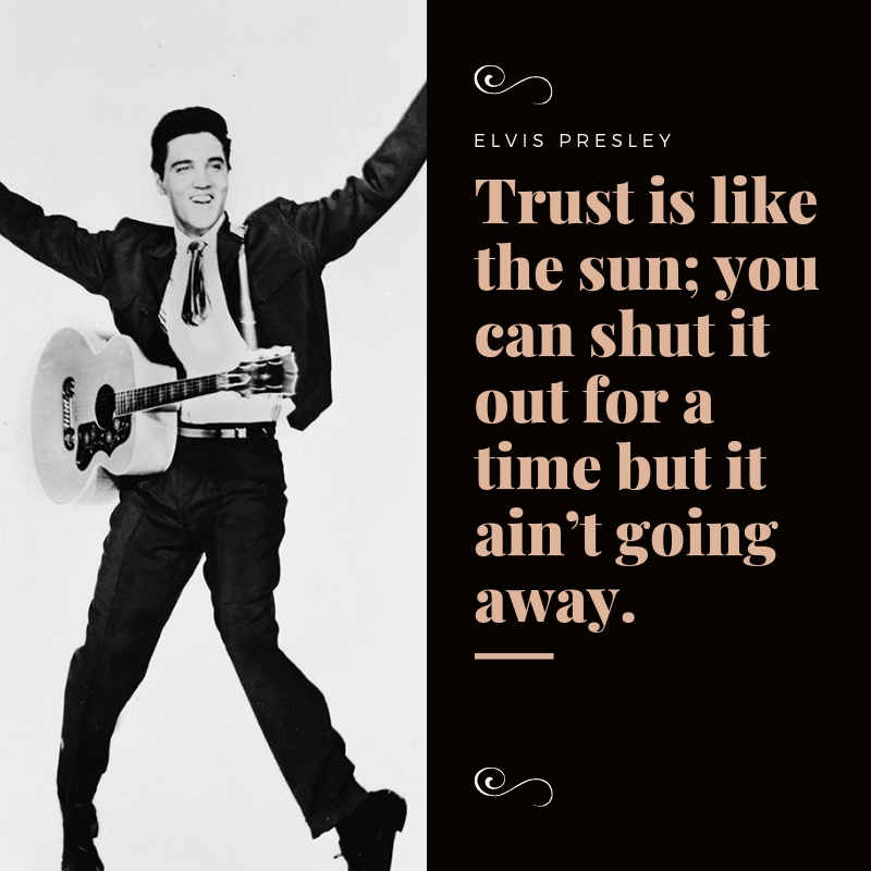 Elvis Presley Quotes Text Image Quotes QuoteReel Awesome Elvis Presley Quotes